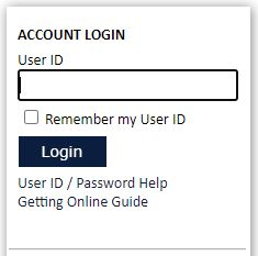 "Step 2: Type in your User ID, which is provided in the welcome booklet you  received in the mail, and click ""Login."""